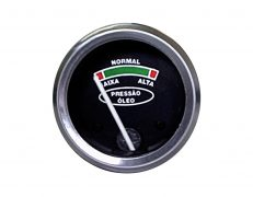 Manômetro do Óleo 0-100lb/pol2 – 52mm – Rosca 3/8×24 Interna