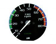 Tacômetro 8000 RPM Corcel / Del Rey 82/90