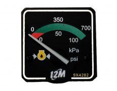 Manômetro Pressão do Óleo 0-700 Kpa 0-100 Psi